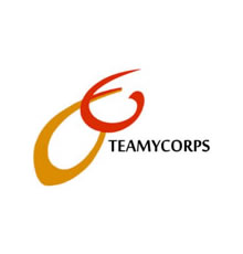 Logo of TeamyCorps: a holding of the Cameroonian Diaspora in France that aims at incubating and creating local and international companies and projects. It is one of the first companies to become shareholders of the Project.