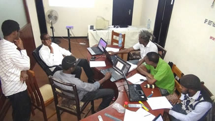 Kiro'o Team's working session in the pre-studio.