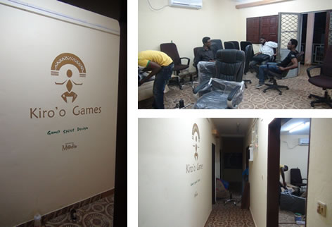 Pictures showing accommodation and installation works in the Kiro'o Games Studio.